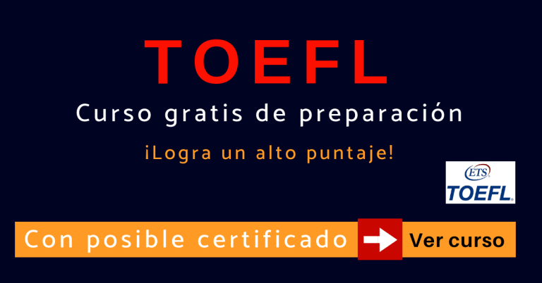 TOEFL ibt curso online de preparación