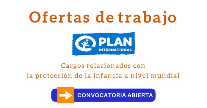 ONG Plan Internacional empleo