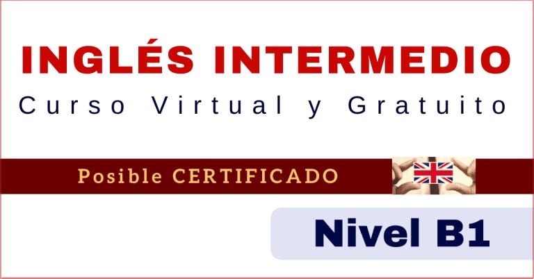 Ingles intermedio curso online con certificado