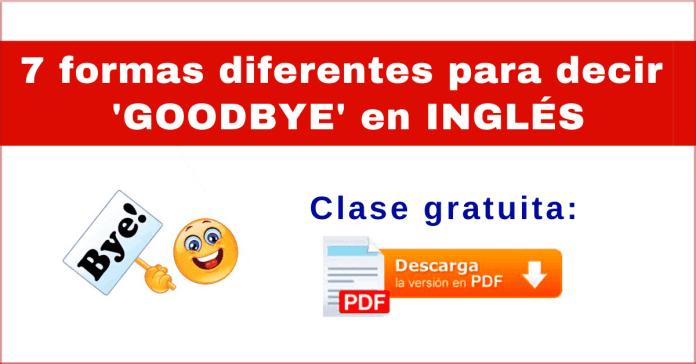 despedidas en inglés pdf