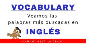 cómo se dice en inglés vocabulario