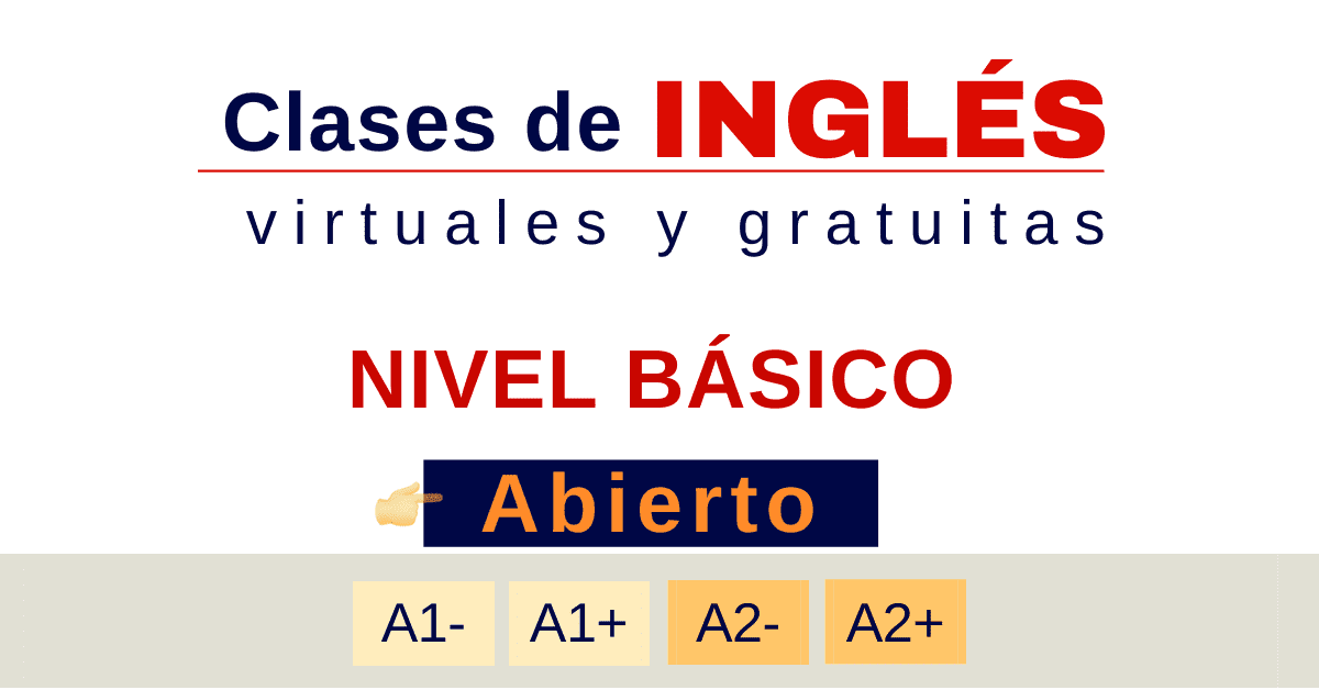 Clases de inglés básico lista actualizada