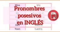 pronombres posesivos ingles