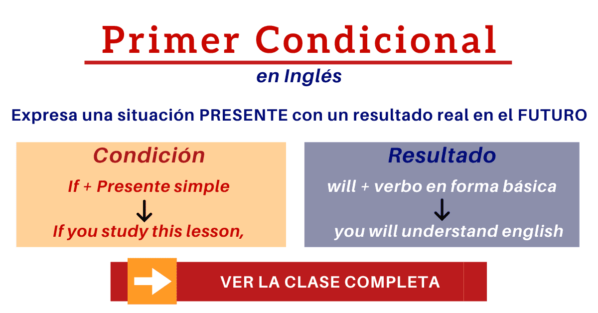 Primer Condicional En Inglés First Conditional Lista De Ejemplos