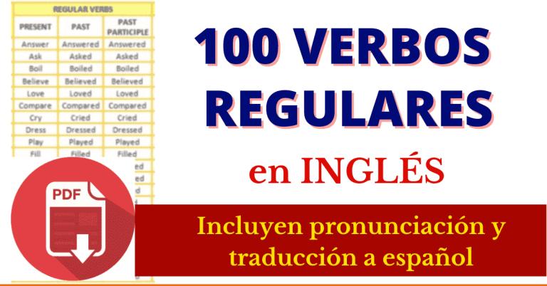 verbos regulares en ingles PDF