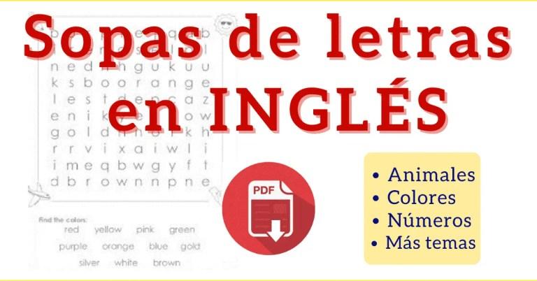 sopa de letras en ingles