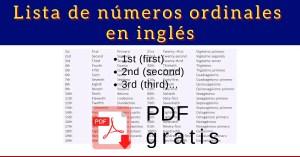 Números Ordinales y Cardinales en inglés