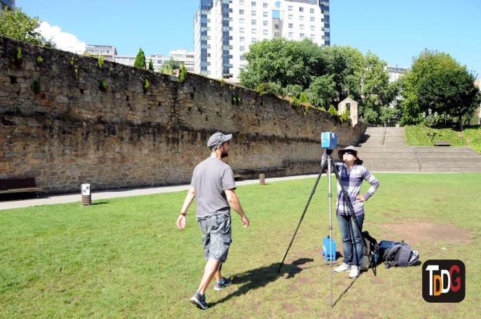 Documentación 3D con Escáner Láser Terrestre del Acueducto del Paseo das Pontes, A Coruña.