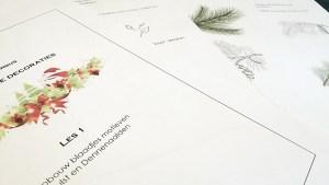 Feestelijke decoraties met pen en inkt