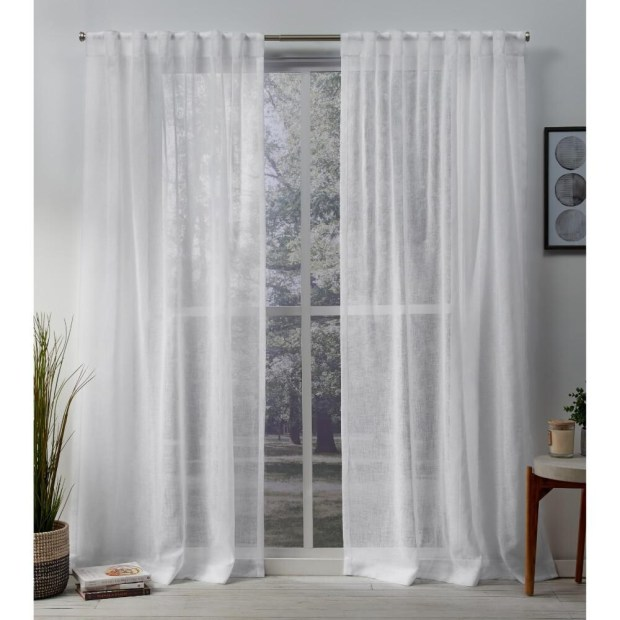 White Sheer Curtains, Embroidered, Black And **2021 Curtain
