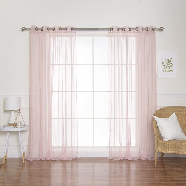 Tulle Curtain Panels, With Lights, Model **2021 Room Curtain