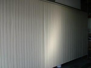 Vertical Blinds after Cleaning.