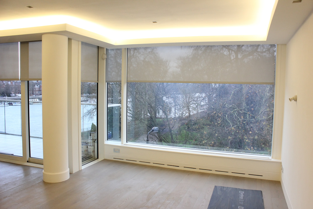 Privacy Screen Roller Blinds Supplied & Fitted for Apartment in Battersea Bridge