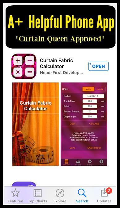 fabric calculator curtain queen creates