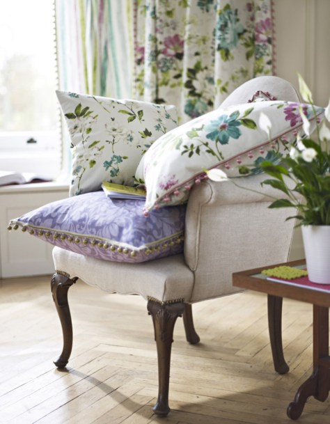 cushions, fabric. curtains, italian garden