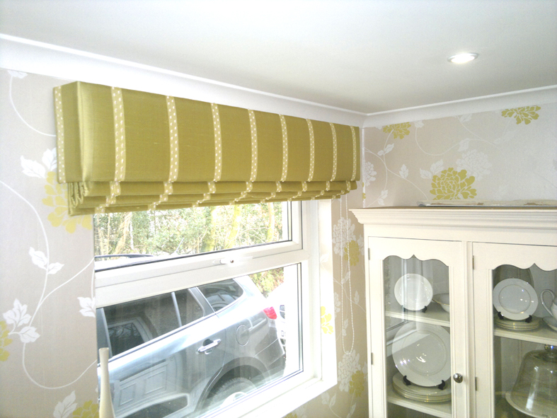 Padded Pelmet, Roman Blind, Kitchen Blind