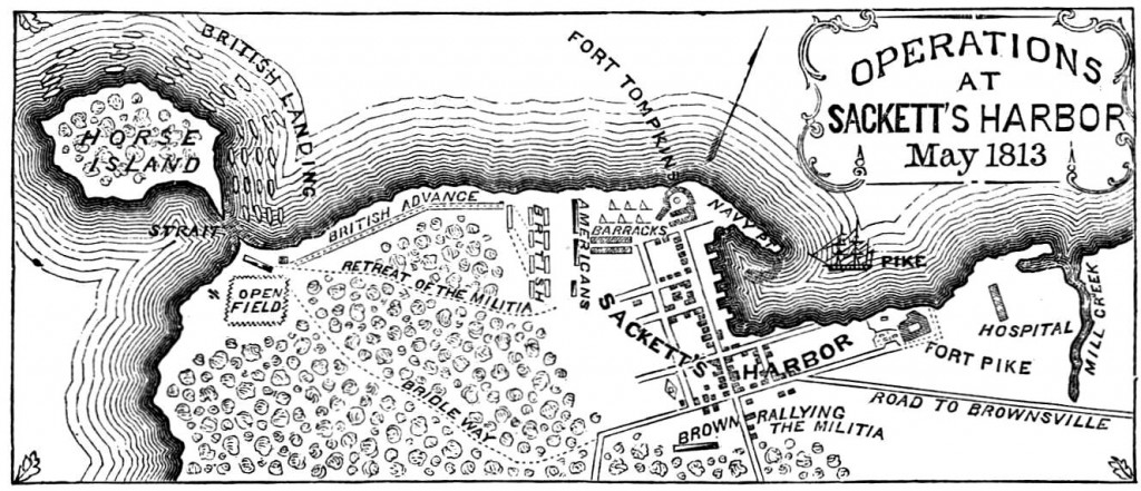 Map of Sackets Harbor Battle