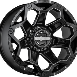 Clash Gloss Black with Milled Accents