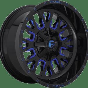 Stroke Gloss Black Milled Blue D645