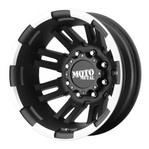 MO963 Dually Matte Black Machined