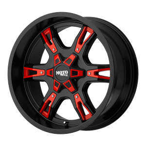 MO969 Satin Black With  Red And Chrome Accents