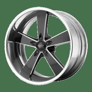 Burnout Two-Piece Black Milled Center Polished Rim