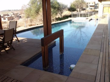 Sunken patio swimming pool building and maintenance