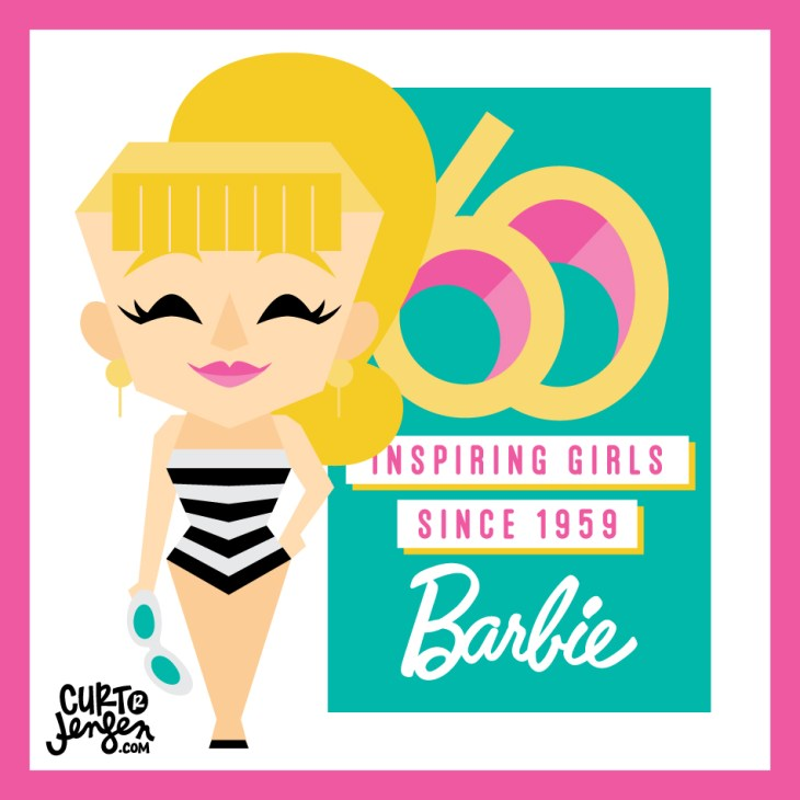 Barbie Vector Illustration by Curt R. Jensen