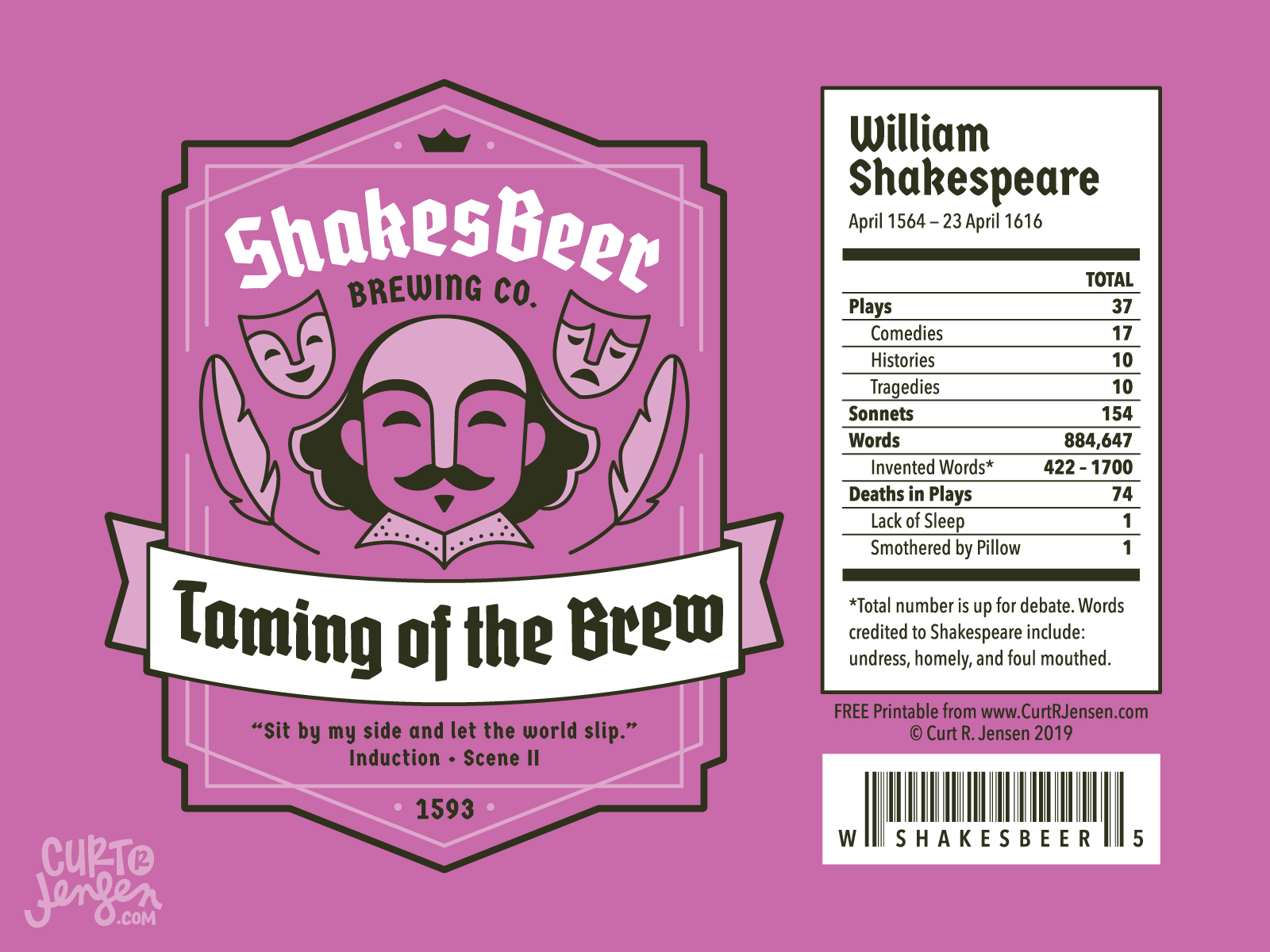 Taming of the Brew- ShakesBeer Brewing Co.