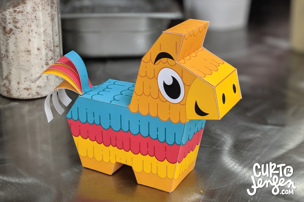 Free printable mini piñatas from Curt R. Jensen