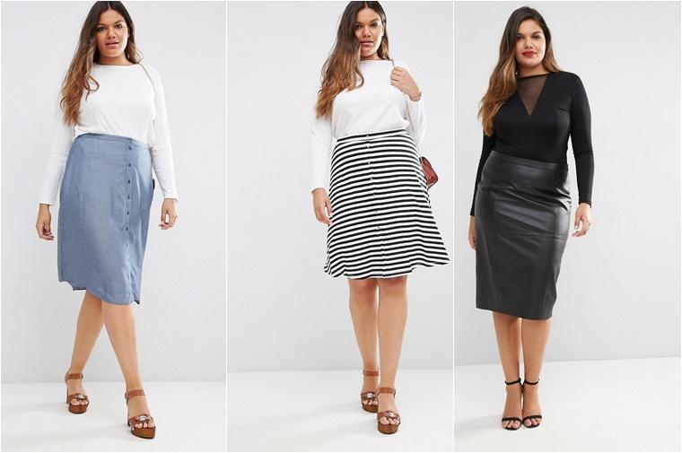 plussize midi skirts 1 - Plussize fashion | De midi skirt