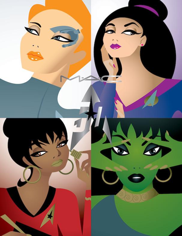 mac star trek 6 - MAC Star Trek | Kling-It-On lipstick & Set To Stun lipglass