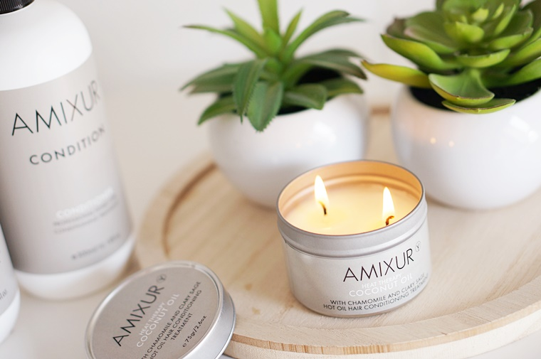 amixur heat therapy 1 - Amixur heat therapy coconut oil candle (voor je haar!)
