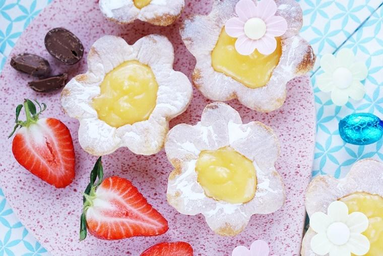 lemon curd recept Pasen 2 - The Cookie Bakery | Lentebloemen met lemon curd