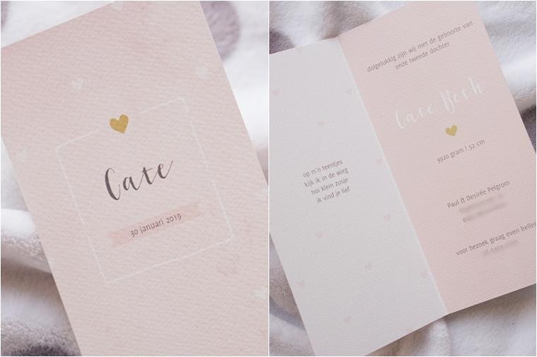 geboorte aankondiging Cate