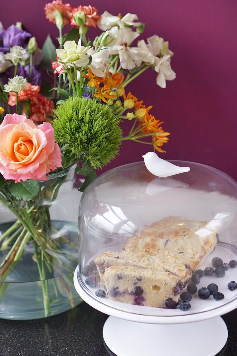cake met skyr en blauwe bessen recept