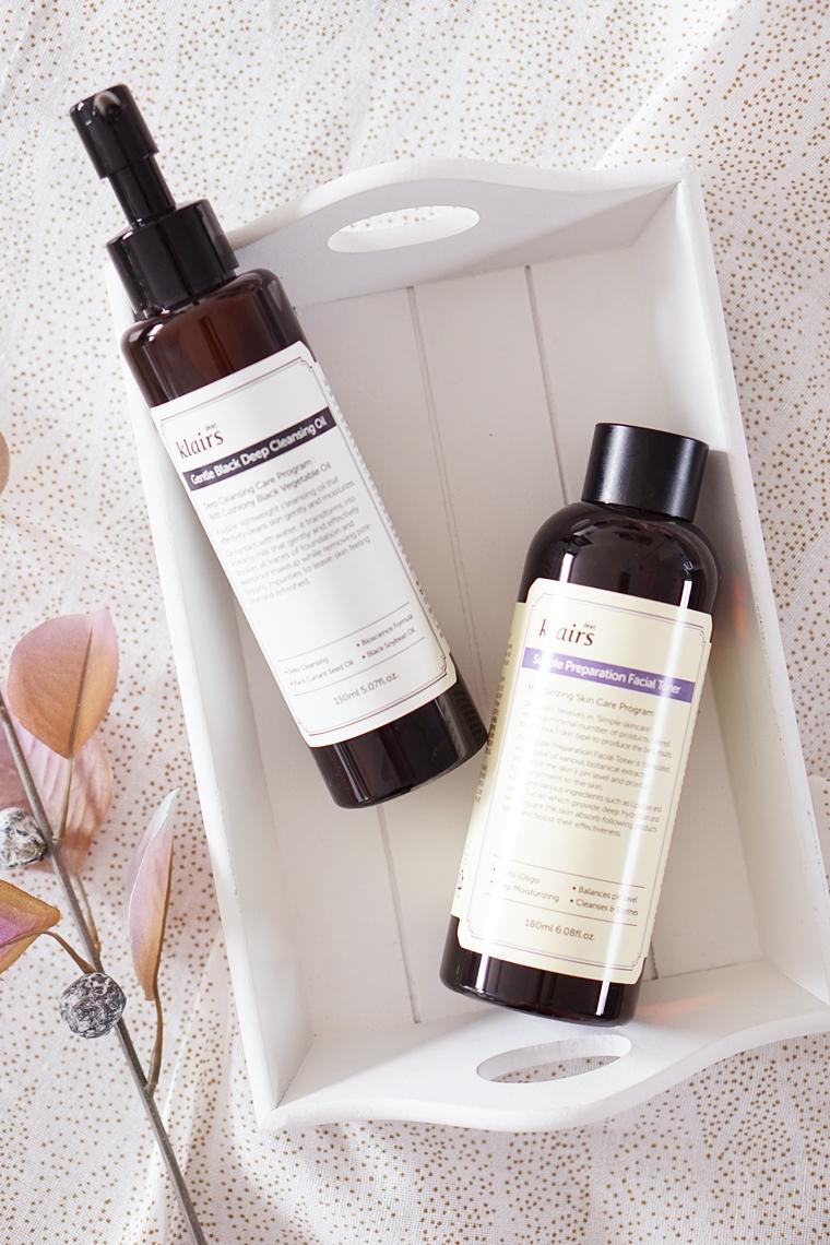 klairs skincare review 1 - Korean Beauty | Klairs gentle black deep cleansing oil & supple preparation facial toner