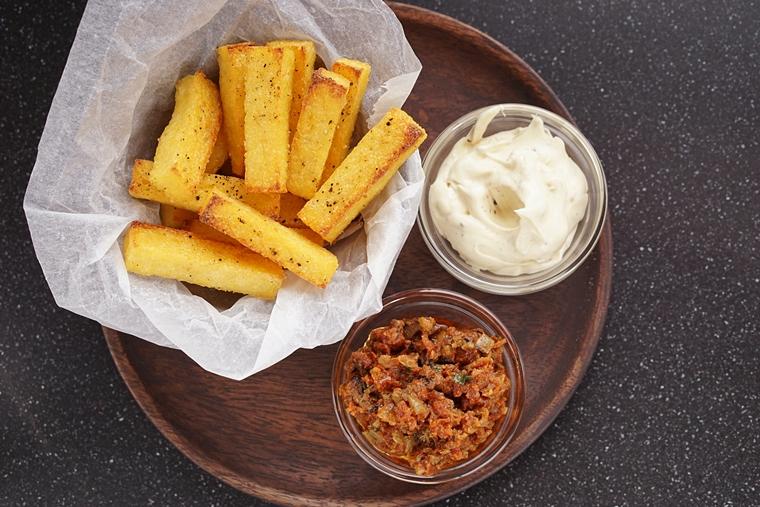 polenta frietjes knoflook recept 5 - Polenta frietjes met knoflook