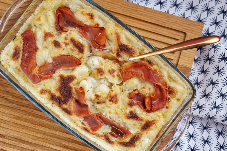 gnocchi ovenschotel 3 kazen prosciutto recept