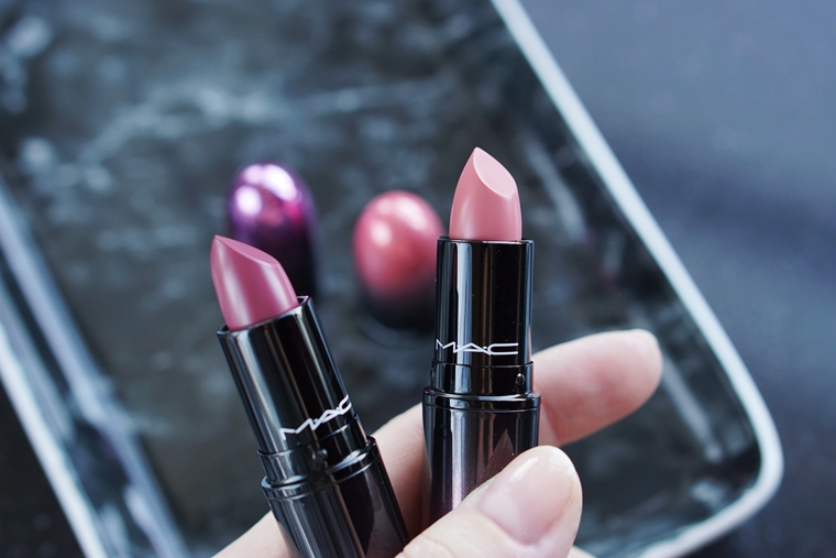 mac love me lipstick review daddy's girl / killing me softly
