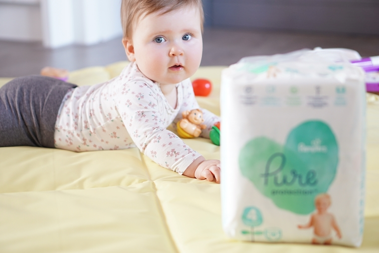 pampers pure 4 - Bewuster leven | Pampers Pure Protection luiers & babydoekjes