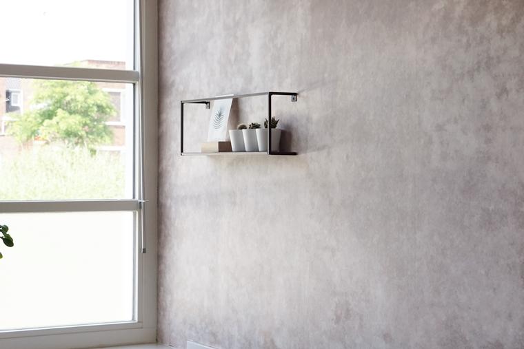 photowall patina beton behang 5 - Home | Een toffe update in onze keuken