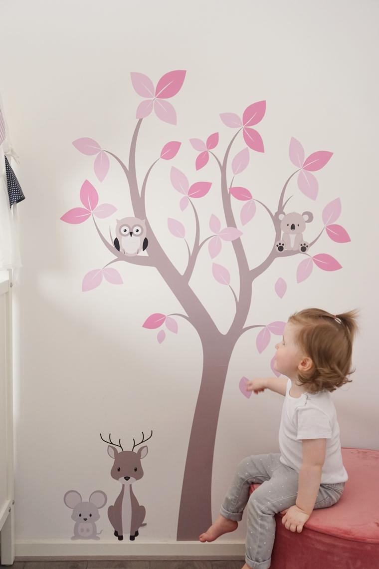 muurstickerstunter ervaring muursticker 4 - Cate's room | Een leuke bloesemboom muursticker