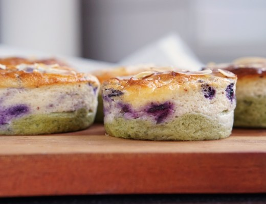 blueberry matcha cheesecake (keto/koolhydraatarm/Airfryer recept)