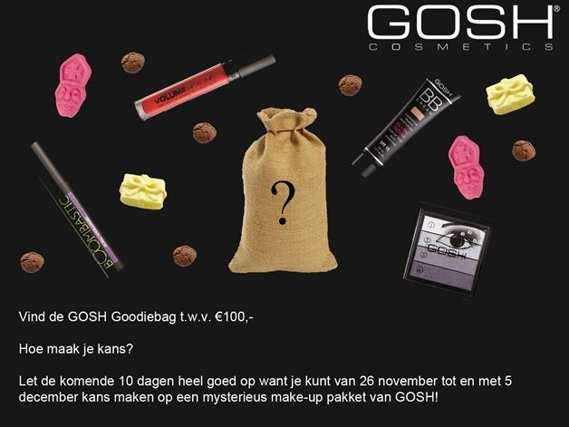 Aankondiging1 - Teaser GOSH winactie voor een goodiebag t.w.v. €100,00