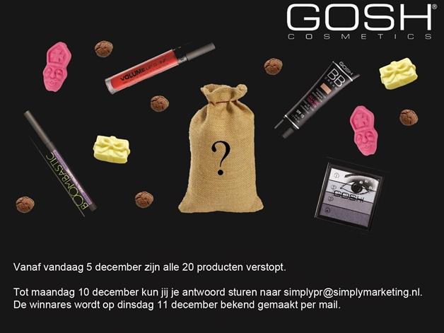 Afkondiging wedstrijd - Heb jij alle items verzameld voor de GOSH goodiebag?