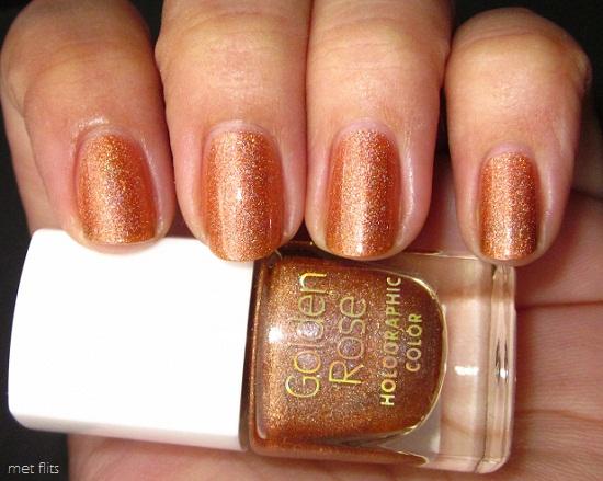 NOTD GR Holo 111 3 - Golden Rose holographic color 106 & 111