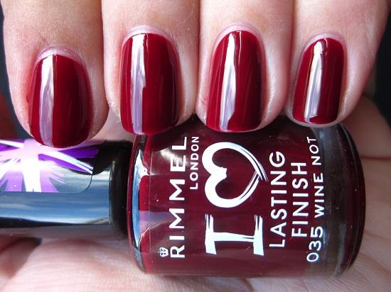NOTD Rimmel Wine not 1 - Rimmel | I Love Lasting Finish Nail Polishes