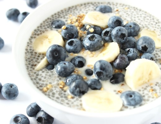 amandel chia pudding - Recept | Amandel chia pudding