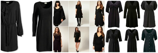 Plus Size | Black Dresses voor de winter/feestdagen